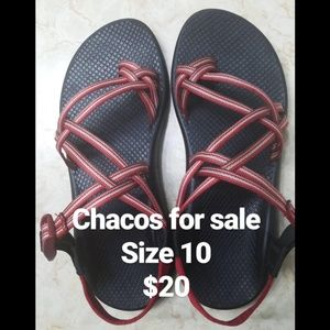 Chacos size 10 red double toe strap